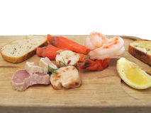 Seafood tasting board Royalty Free Stock Photos