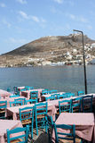 Seafood tavern. Traditional greek taverna Leros island dodecanese greece royalty free stock images