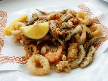 Seafood tempura Royalty Free Stock Images
