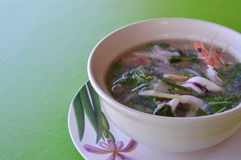 Seafood Thai spicy soup Royalty Free Stock Images
