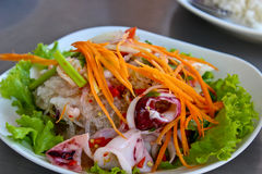Seafood Thai Style salad Royalty Free Stock Images