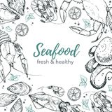 Seafood vector illustration Royalty Free Stock Image
