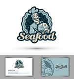 Seafood vector logo. fresh fish, cooking or restaurant icon Stock Image