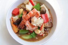 Seafood vegetable stock images