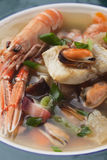 Seafood and vegetable soup Royalty Free Stock Photo