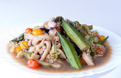 Seafood with vegetables Royalty Free Stock Image
