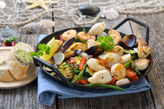 Seafood and vegetables Stock Photo