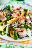 Seafood and vegetables salad Stock Image