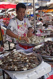 Seafood vendor Stock Image