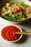 Seafood vermicelli soup - Sukiyaki Stock Images
