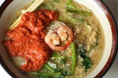 Seafood vermicelli soup - Sukiyaki Stock Photos