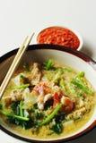 Seafood vermicelli soup - Sukiyaki Royalty Free Stock Photo