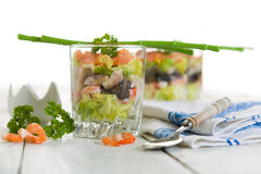 Seafood verrine Royalty Free Stock Image