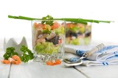 Seafood verrine Royalty Free Stock Image