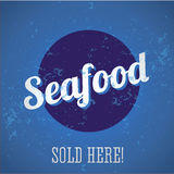 Seafood vintage print Stock Photos