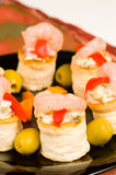 Seafood vol au vents Royalty Free Stock Images