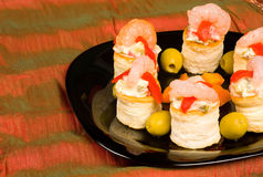 Seafood vol au vents Stock Photography