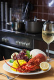 Seafood and wine Stock Photo