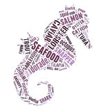 Seafood word cloud Stock Images
