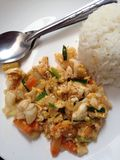 Seafood yellow curry powder stir Fried Royalty Free Stock Photo