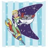 SeafoodRocketLady-A royalty ilustracja