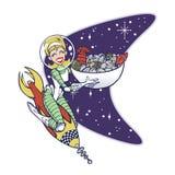 SeafoodRocketLady-B stock de ilustración