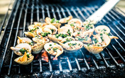 Seafoods BBQ royalty free stock images
