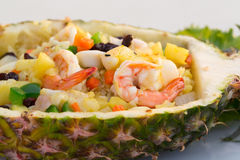 Seafoods with Rice and Pineapple Royalty Free Stock Photos