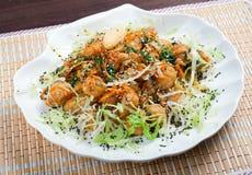 Seafoods  in Tempura Pastry Stock Photos