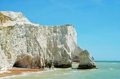 Seaford Angleterre de falaises de craie Photographie stock libre de droits
