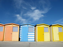 Seaford beach chalets Stock Image