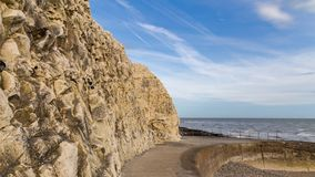 Seaford, East Sussex, UK. Cliffs and coastline in Seaford, East Sussex, England, UK stock image