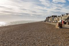 Seaford, East Sussex, UK. Pebble beach and coast, Seaford, East Sussex, England, UK Royalty Free Stock Photos