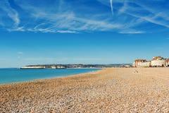 Seaford strand, östliga Sussex england arkivbilder