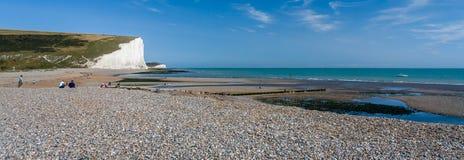 SEAFORD, SUSSEX/UK - 15 AOÛT : Sept soeurs dans le Sussex sur Augu Images stock