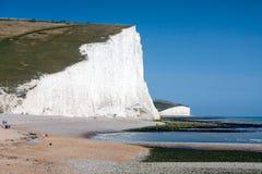 SEAFORD, SUSSEX/UK - 15 AOÛT : Sept soeurs dans le Sussex sur Augu Photos stock