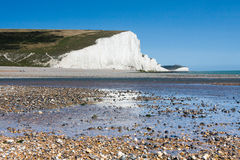 SEAFORD, SUSSEX/UK - AUGUST 15 : Seven Sisters in Sussex on Augu Stock Photos