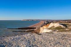 SEAFORD SUSSEX/UK - NOVEMBER 28: Sikt av Seaford i Sussex på Arkivfoto