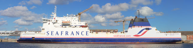 Seafrance boat at the quay in Dunkerque Stock Photo