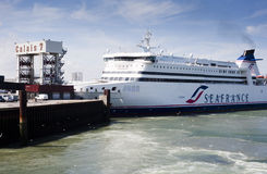 Seafrance Fähre in Calais stockfoto