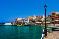 Seafront. Of Agios Nikolaos, Crete, Greece Royalty Free Stock Photos