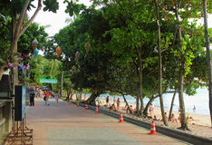 Seafront in Ao Nang, Krabi, Thailand Royalty Free Stock Photography