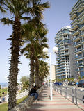 Seafront and architecture modern buildings in Bat-Yam Stock Photos