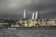 Seafront in Baku town. Azerbaijan Stock Photo
