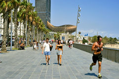 Seafront of Barcelona, Spain Stock Images