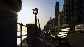 Seafront of Bari stock footage