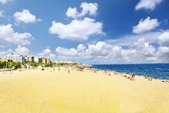 Seafront, beach,coast in Spain. Suburb of Barcelona Stock Photography
