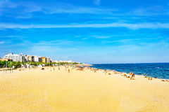 Seafront, beach,coast in Spain. Royalty Free Stock Photo