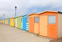 Seafront beach huts Royalty Free Stock Images