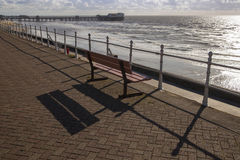 Seafront bench Royalty Free Stock Images